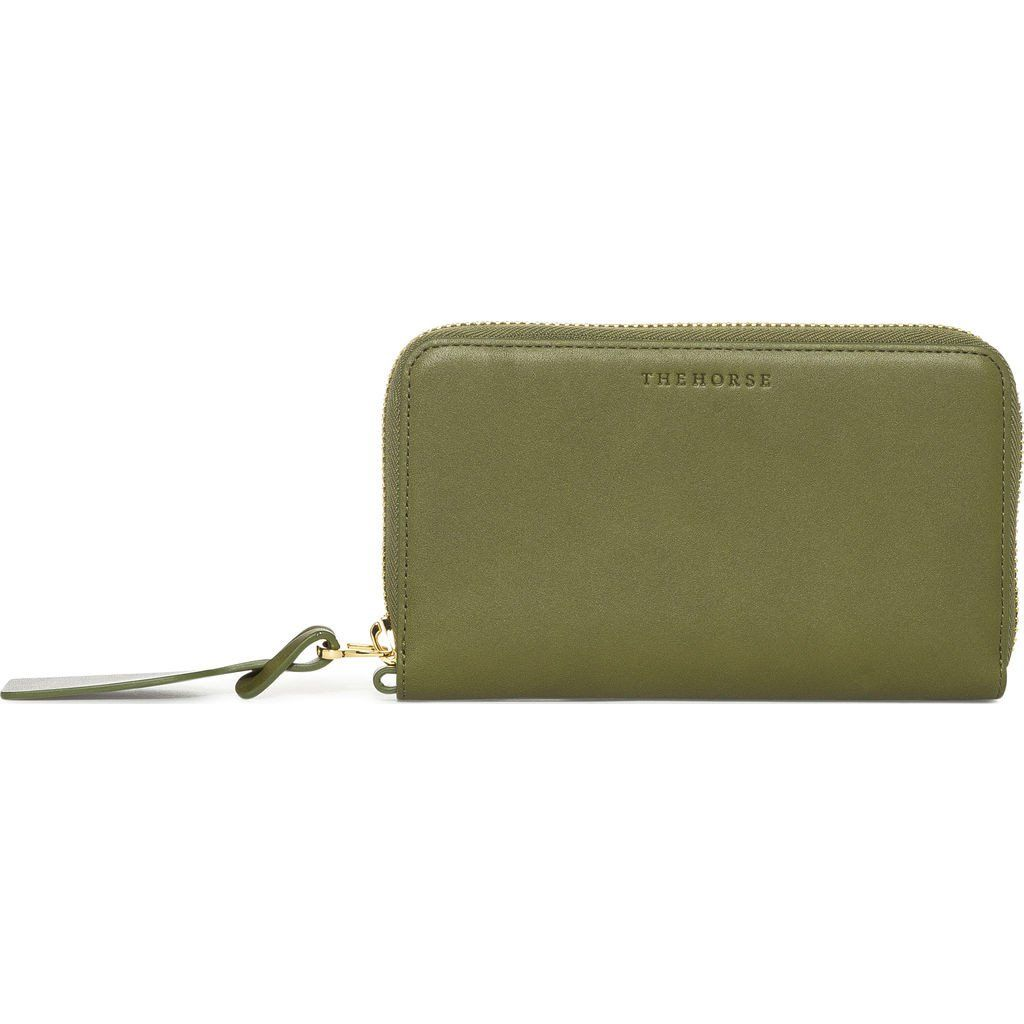 The Horse Block Wallet | Olive/Natural