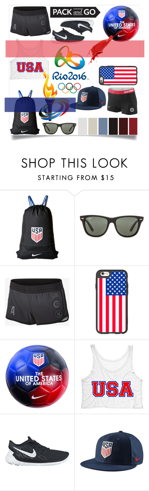 """Olympics: Rio 2016"" by dumplingxd ❤ liked on Polyvore featuring Opening Ceremony, NIKE, Ray-Ban and Casetify"
