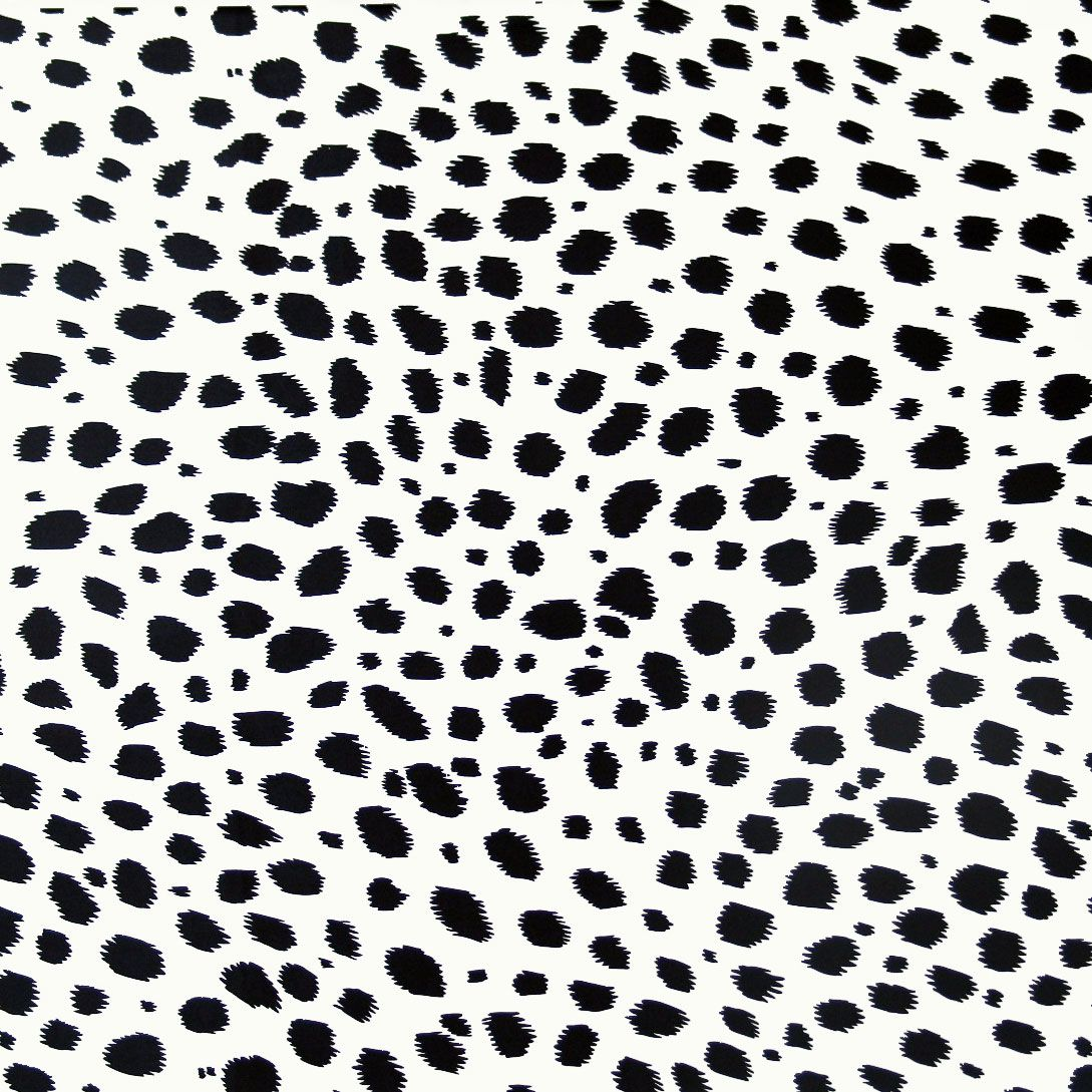 Silk Charmeuse Fabric Black White Jaguar Spots Fat 1 4 18 X22
