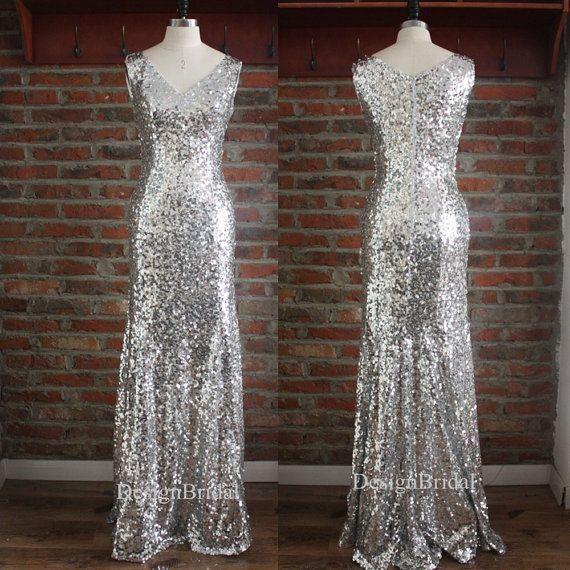 V Neck Sexy Sequin Dress,Elegant Women Evening Dress,Long formal Dresses,2016  New Sequin Dresses Sleeveless,Elegant Formal Gowns
