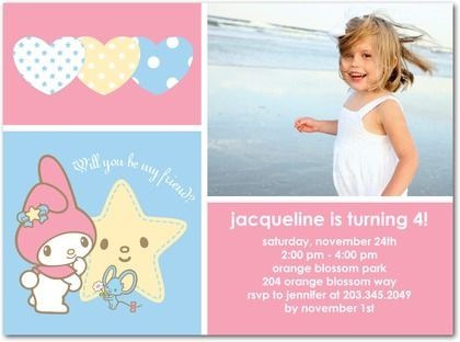 My Melody Party Invitations 3 My Melody Pinterest Party