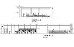 Shopping center section plan autocad file   block   Autocad