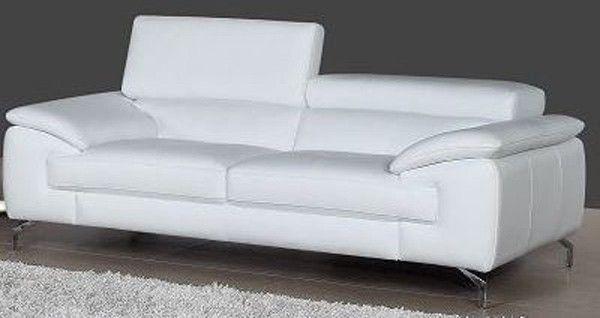 J M Furniture A973 White Italian Leather Loveseat 1790611 L Italian Leather Sofa Black Leather Modern Sofa Best Leather Sofa