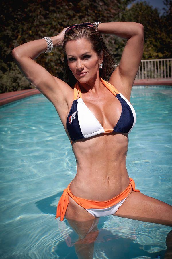 Denver Broncos Babe now that is a bikini  Funny  Broncos