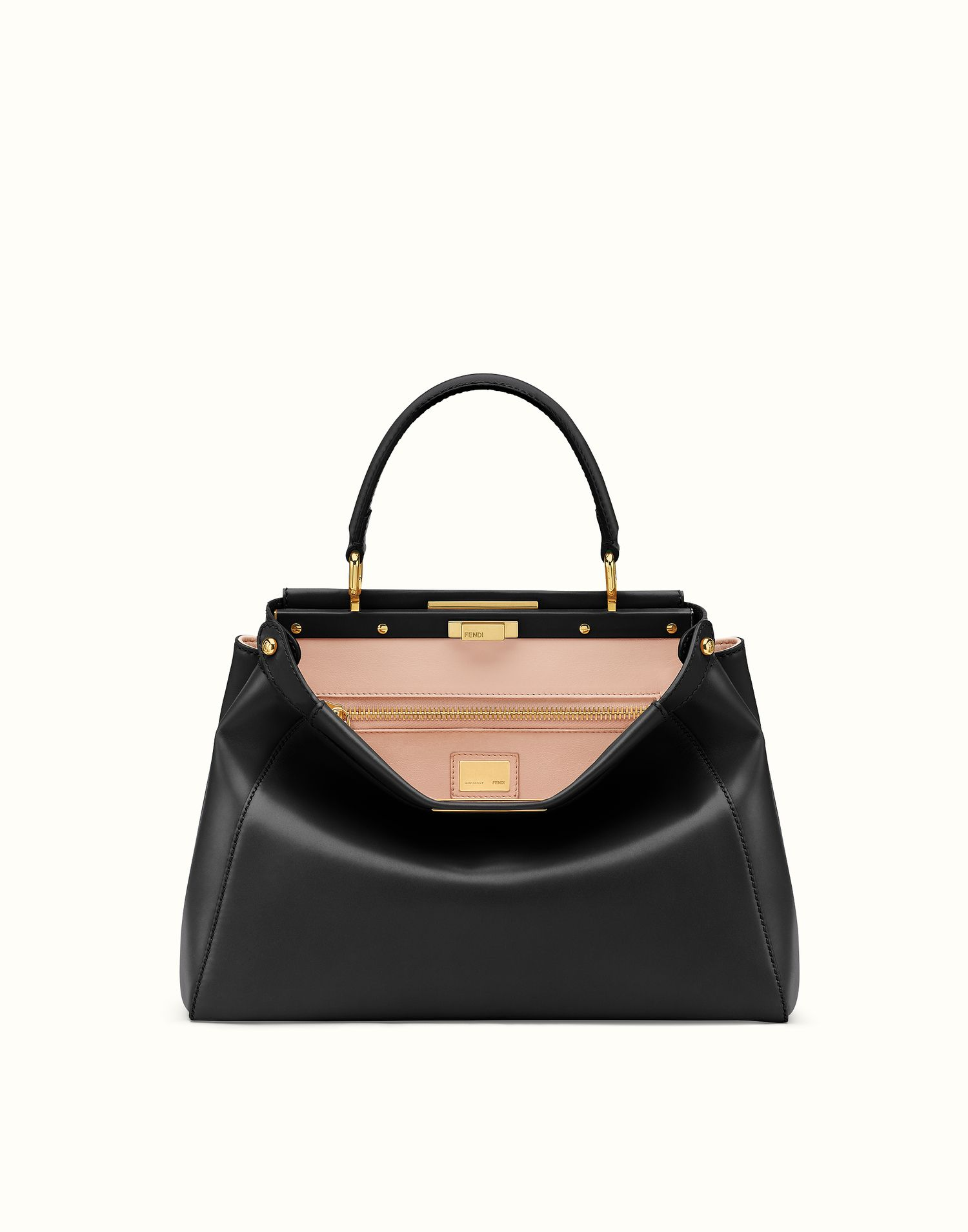 8969c2b7 FENDI | REGULAR PEEKABOO handbag in black leather | Handbags | Fendi ...