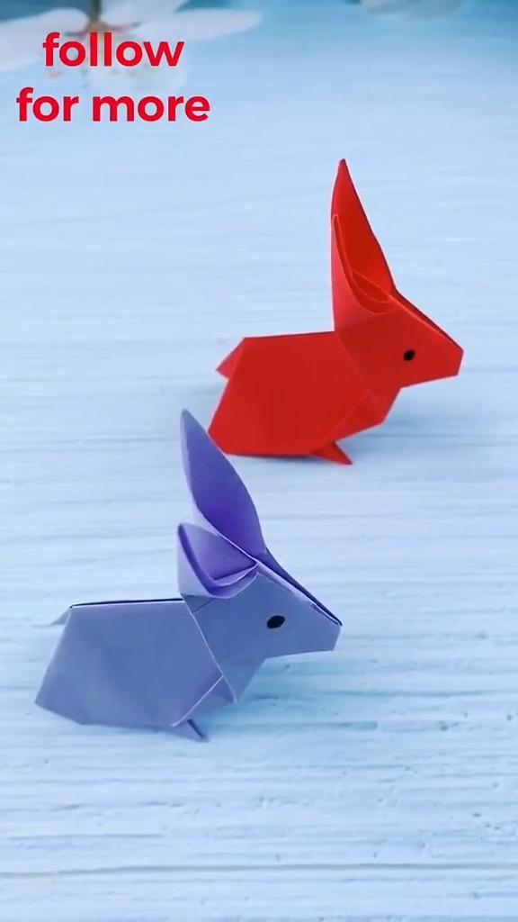 DIY Paper Rabbit - Amazing Paper Craft Ideas