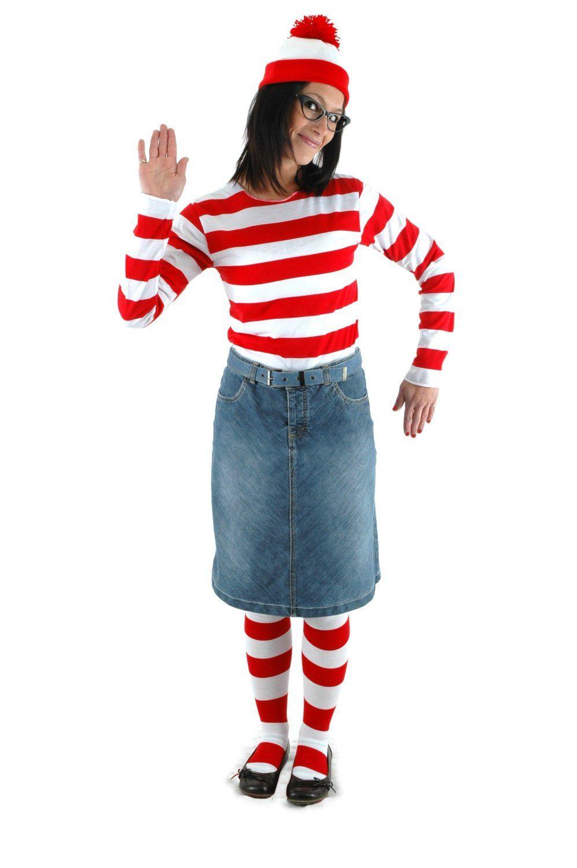 Where Is Waldo Costume For Women (Wenda)  sc 1 st  Pinterest & Where Is Waldo Costume For Women (Wenda) | Halloween Ideas ...