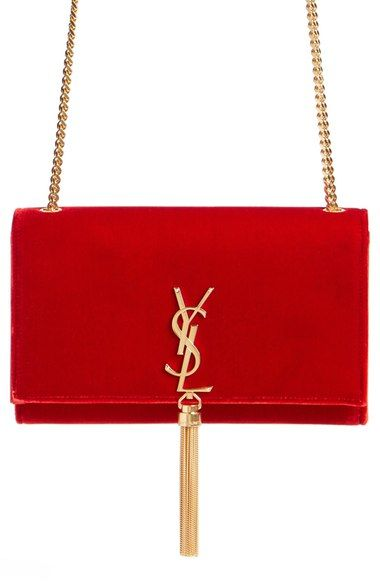 6f4b6d6df2 Saint Laurent  Medium Kate - Tassel  Velour Crossbody Bag available at   Nordstrom