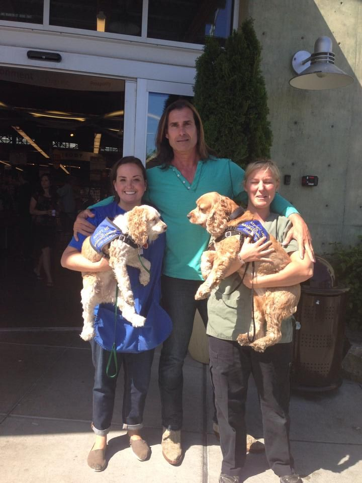 Fabio Poses With Two Dogs Available For Adoption From The Seattle Animal Shelter Seattle Dog Animal Shelter Dog Blog