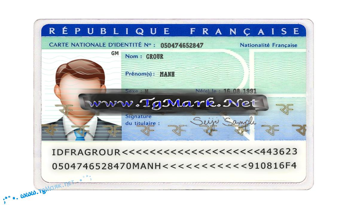France Id Card Template Psd Photoshop Id Card Template Card Template Photoshop