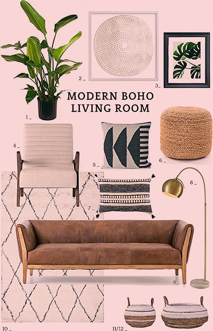 Boho Living Room 12 Modern Boho Living Room Ideas Inspiration for a modern bohemian living room with moroccan style boho decor in lots of neutral hues