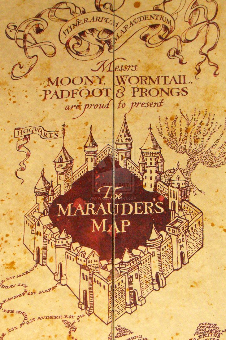 """Hogwarts Castle with a different saying in the courtyard?? Perhaps, """"Mischief Managed""""?"""