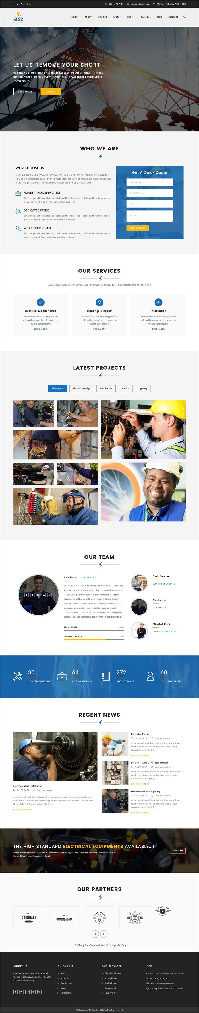 Max electric is a wonderful 2in1 responsive #WordPress theme for stunning #electrician and #engineers websites download now➩ https://themeforest.net/item/max-electric-electrician-wordpress-theme/19384984?ref=Datasata