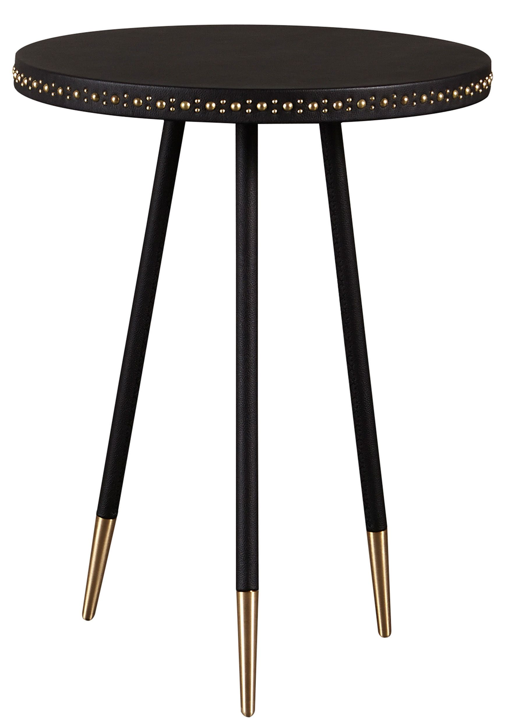 Best Buy Stud Leather Side Table From Curated Kravet On Dering 400 x 300