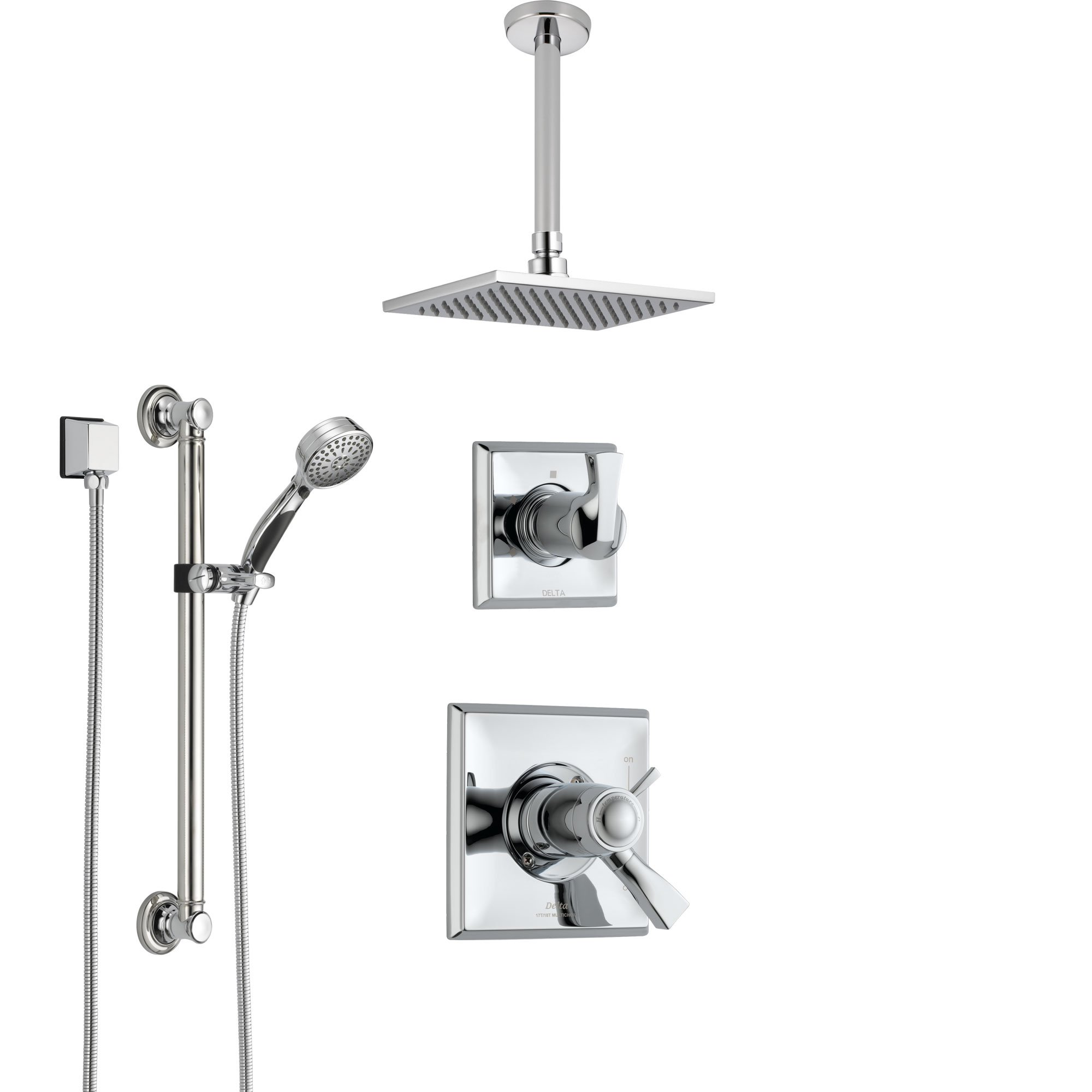 Delta Dryden Chrome Shower System With Dual Thermostatic Control