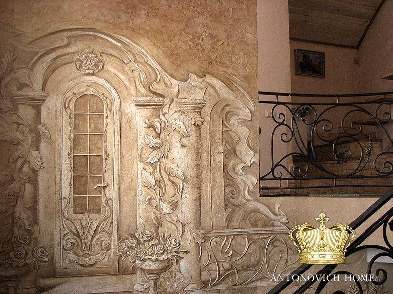 Барельефы картины на стенах фасадах дизайн фото