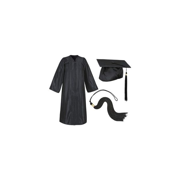 BLACK-GRADUATION-CAP-AND-GOWN ($35) ❤ liked on Polyvore featuring ...