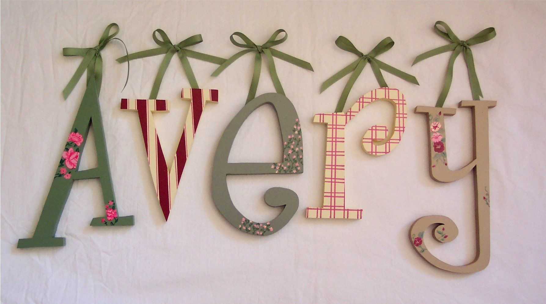 Hanging Wall Letters Delectable Would Love To Do Something Like This In The Nursery.hope Sarah Decorating Design