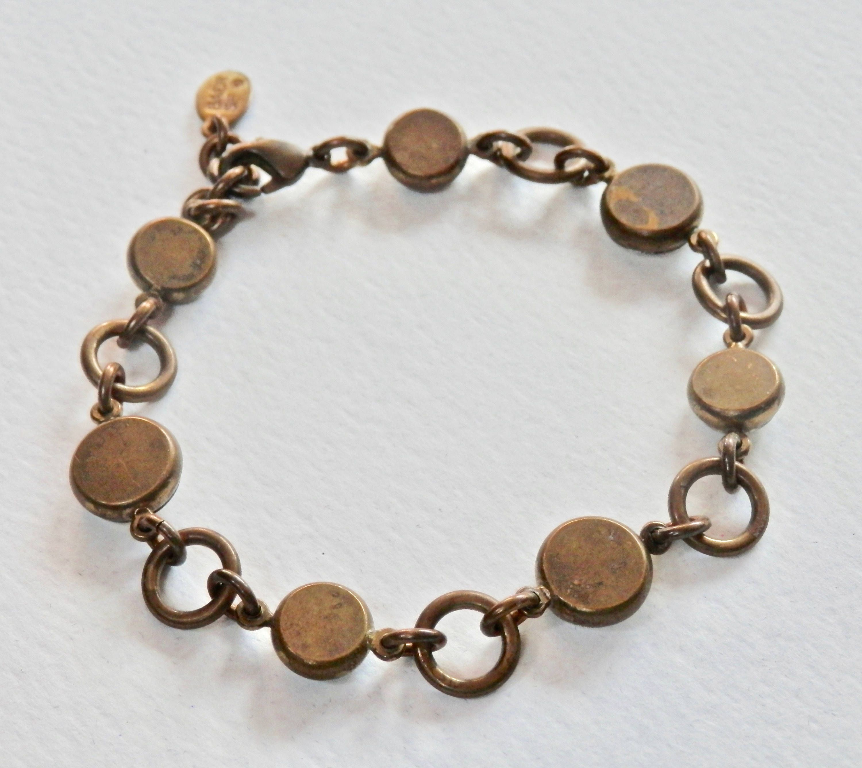 Marjorie Baer Bracelet Mixed Metals Brass Modernist Jewelry Designer