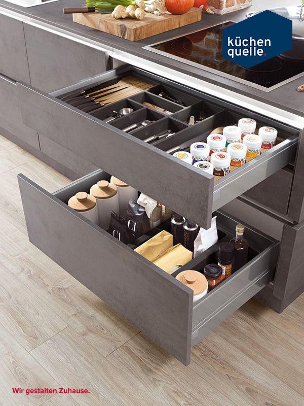 Für Fans des Industrial-Styles ist die Norina 2371 Beton-Schiefer - www küchen quelle de