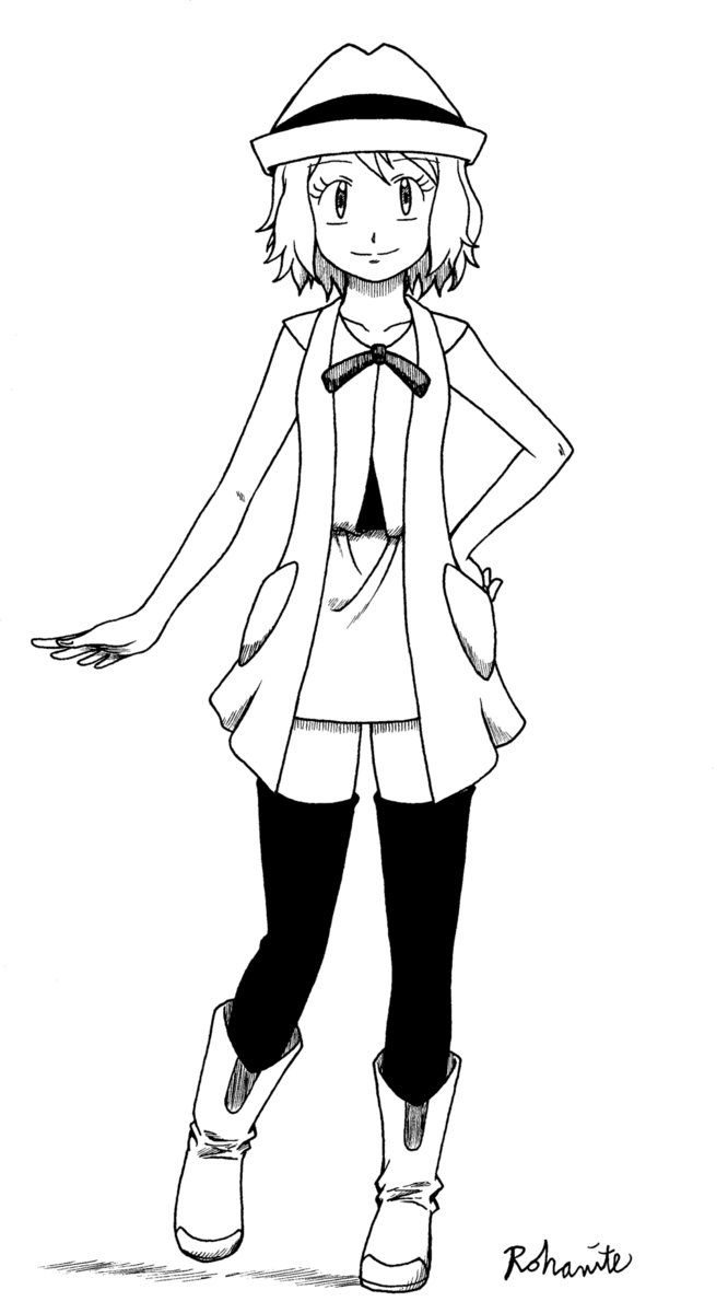 Short Hair Pokemon XY Serena in 2019 | Pokemon, Short hair ...