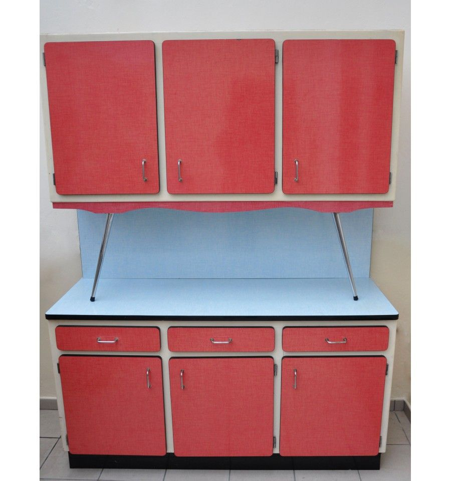 Buffet formica 50 60 s 39 formica cuisinette for Meuble cuisine 1950