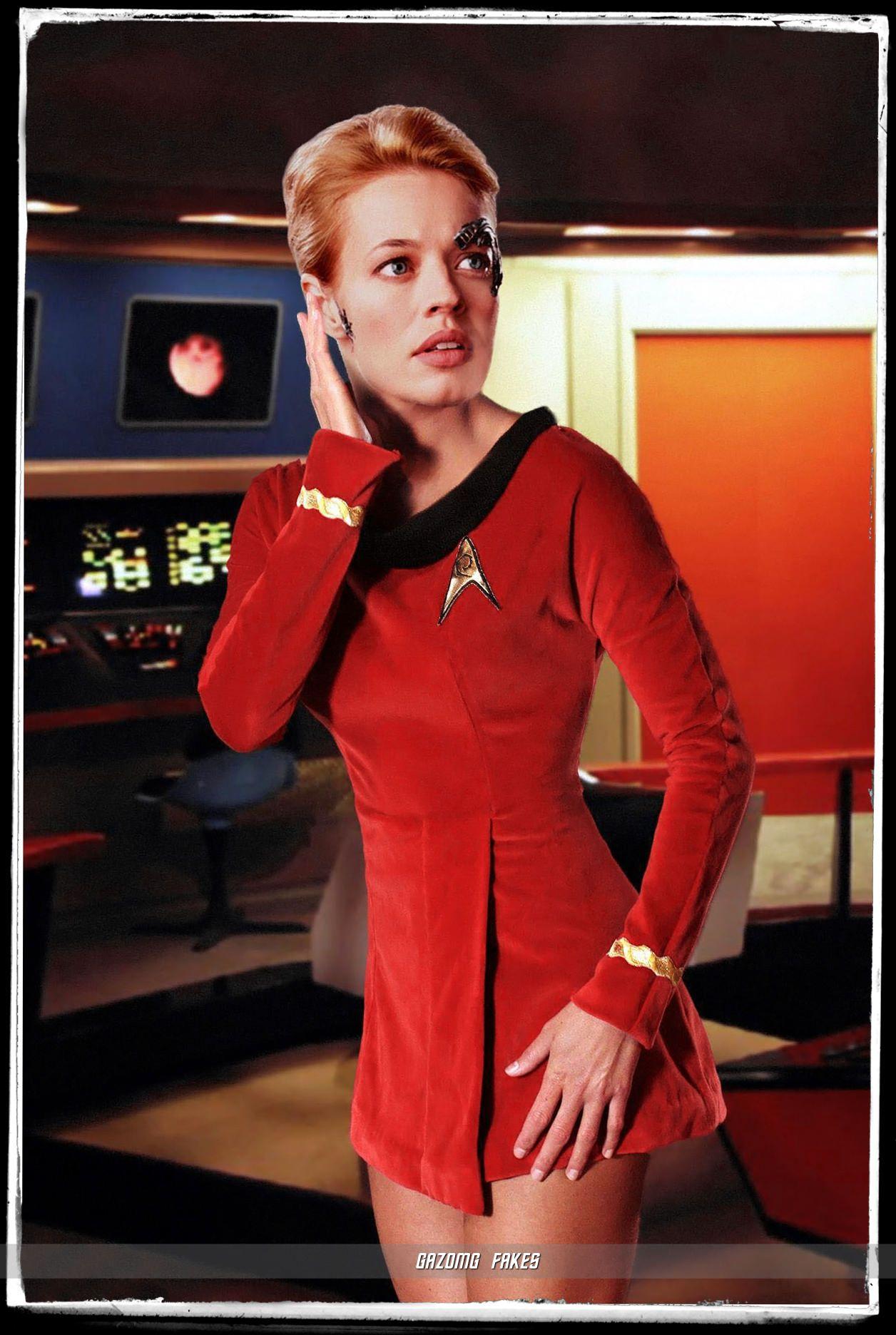Trek star fakes women