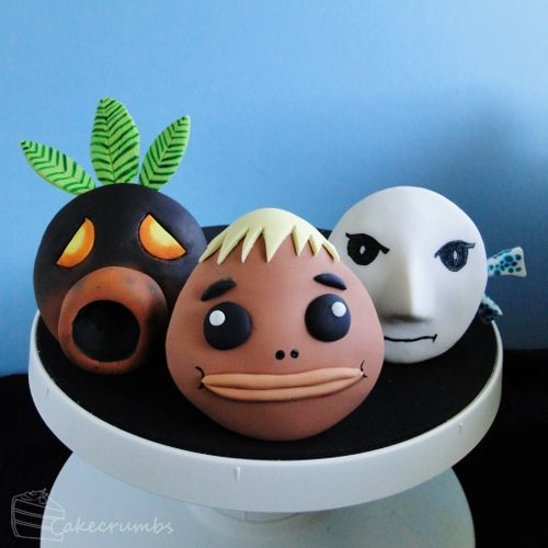 Majora's Mask: Mask Cupcake Set [Masks #1 -3]