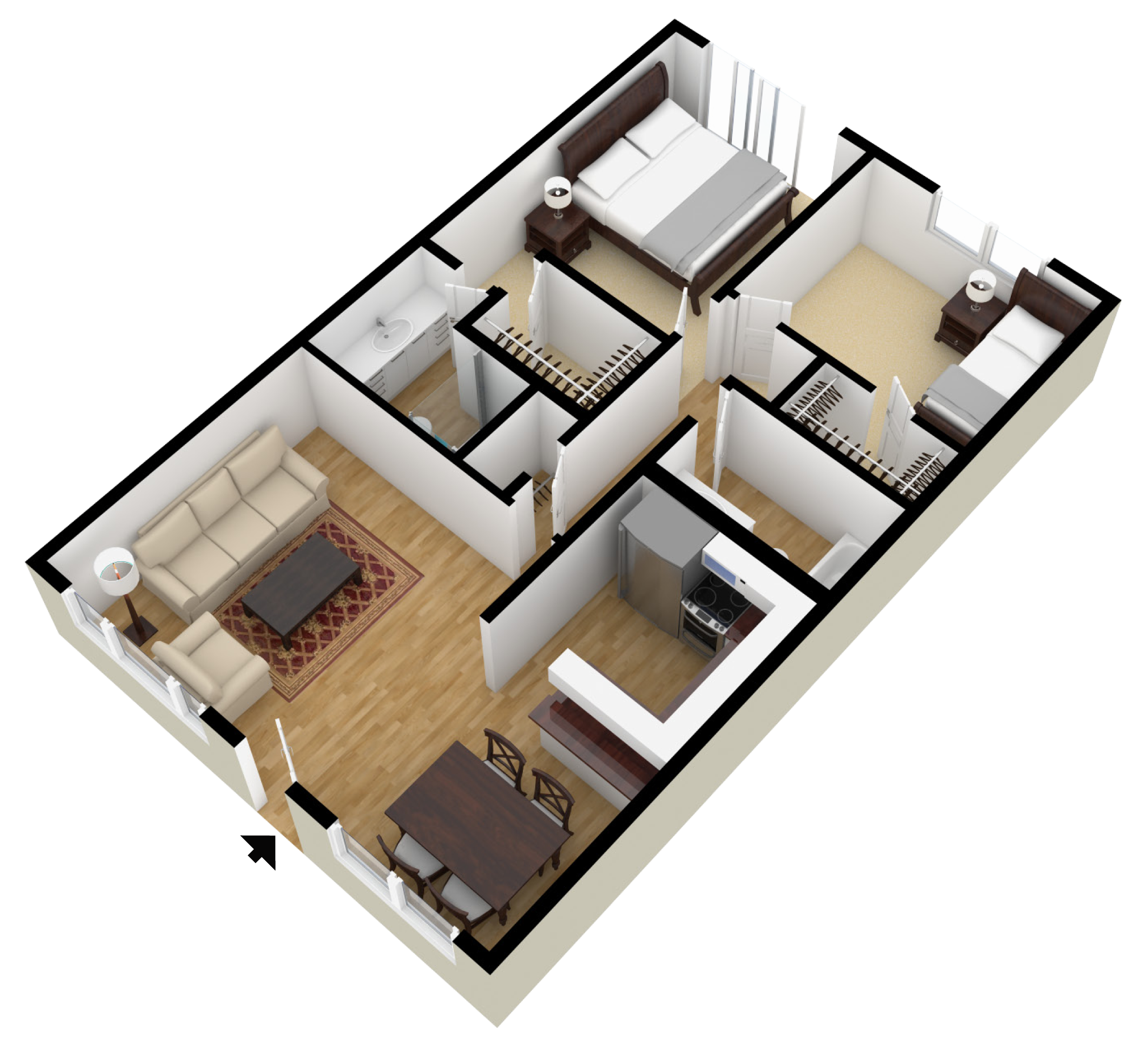 Small Galley Kitchen Floor Plans: This Is Similar To The Apartment Cambria Lives In. However