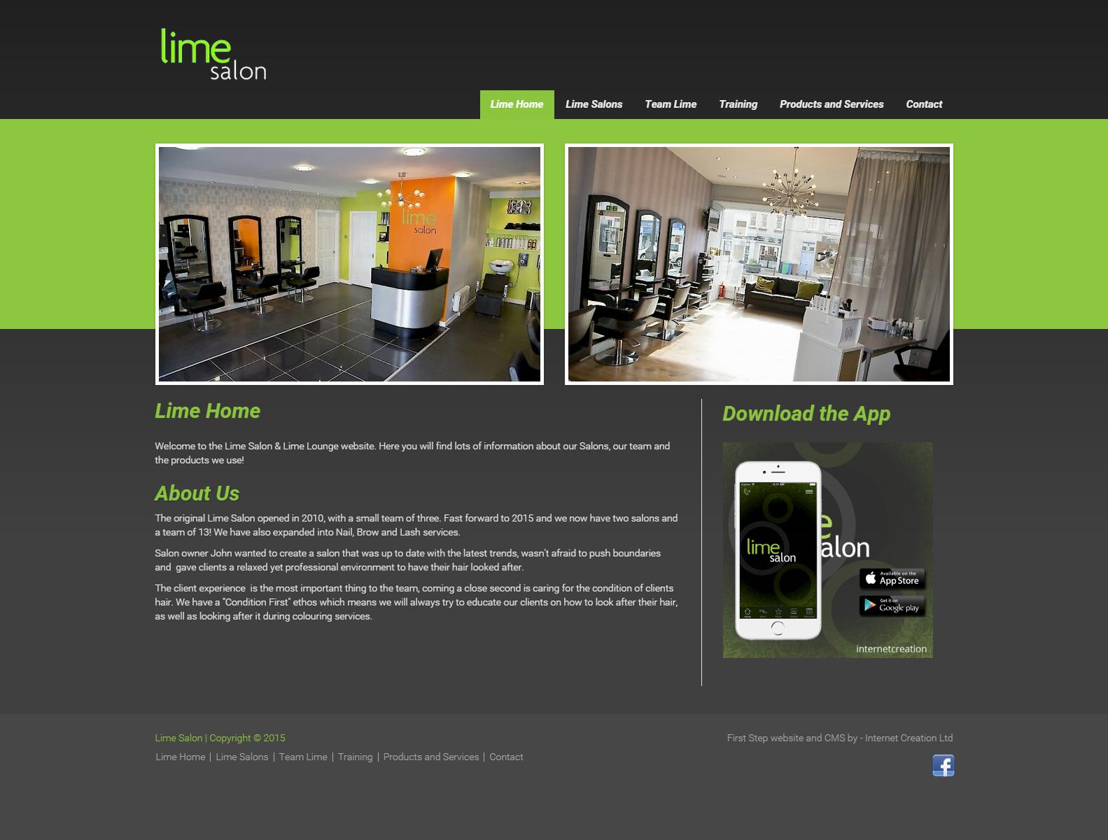 Lime Salon website