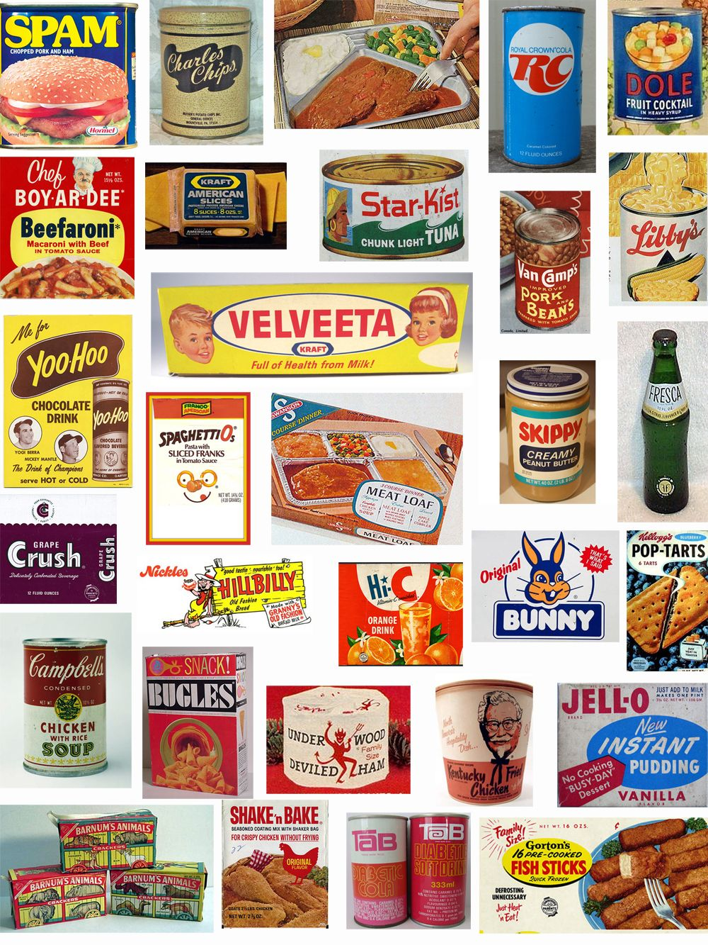 Child of the 60's food and beverage Retro recipes, 70s
