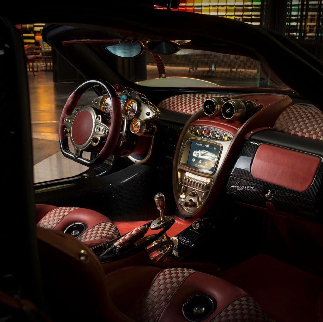 Interior Of The Pagani Huayra Painted In Bianco W The Pacchetto