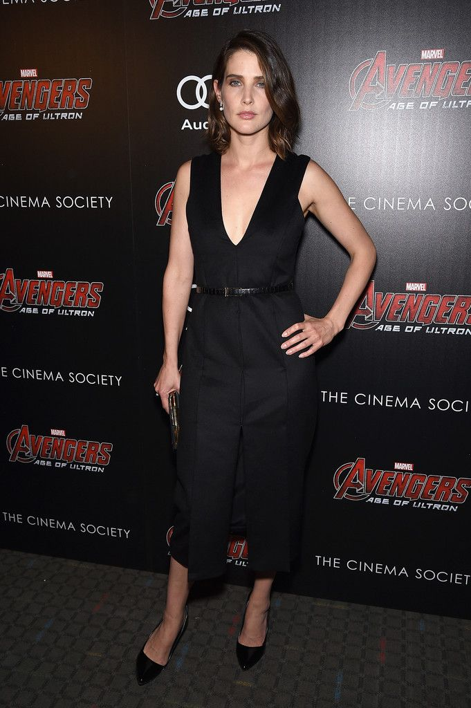 Cobie Smulders Photos Photos The Cinema Society Screening Of Marvel S Avengers Age Of Ultron Arrivals Little Black Dress Fashion Celebrity Fashion Trends