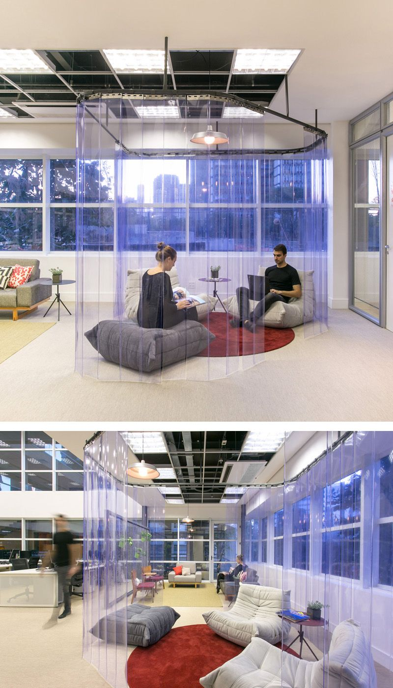 this new office design is filled with secluded areas to relax or rh pinterest com