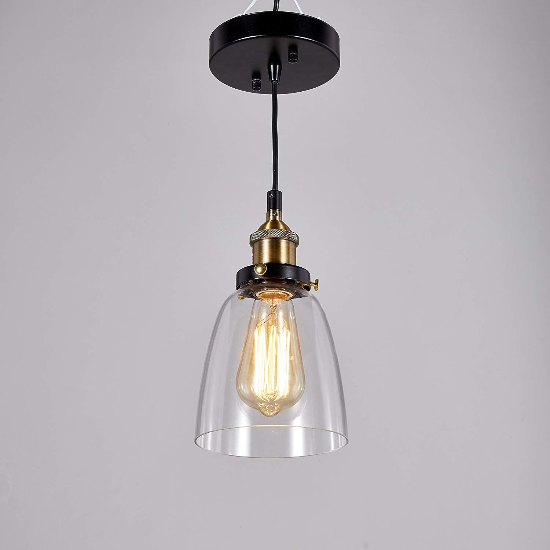 Central Park Industrial Vintage Glass Pendant Lamp Edison Lighting Cottage Style Light Fixture Diameter Glass Pendant Lamp Pendant Light Edison Light Bulbs
