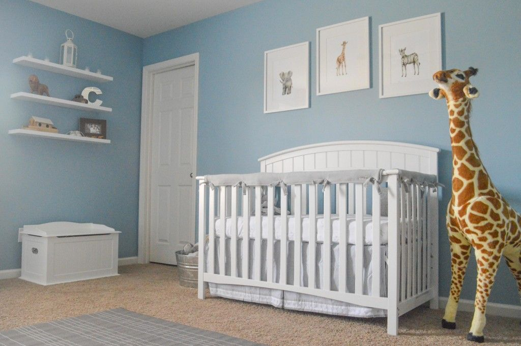 Classic Gray And Blue Safari Nursery Baby Boy Blue Nursery Blue