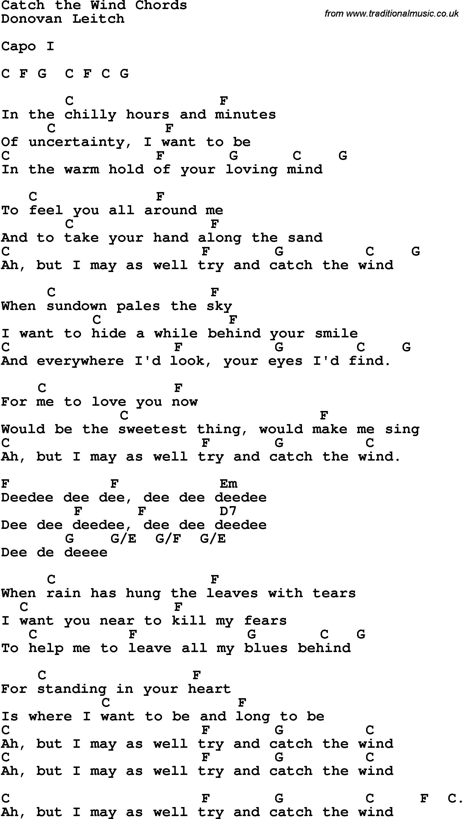 playing in the wind lyrics