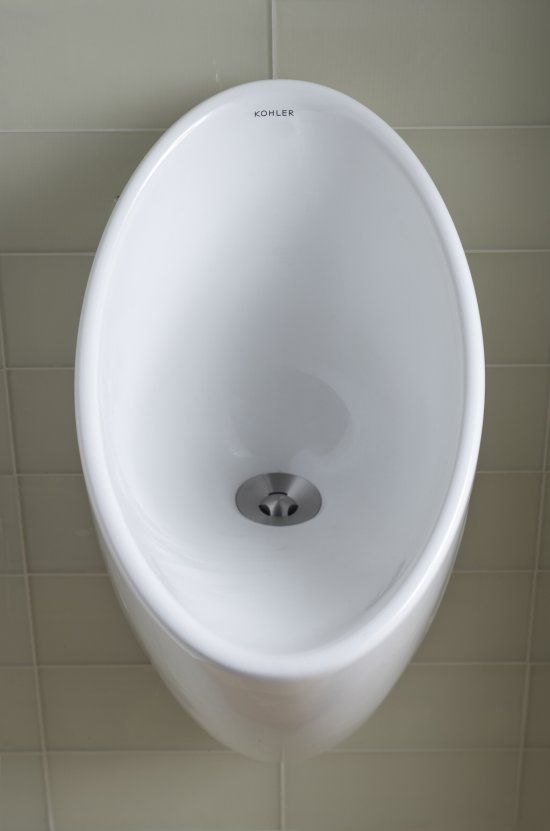 Waterless urinals have no flush mechanism  Liquid travels