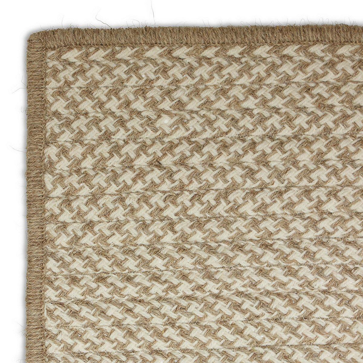 Houndstooth Wool Rug Ivory Maine Cottagehoundstoothwool