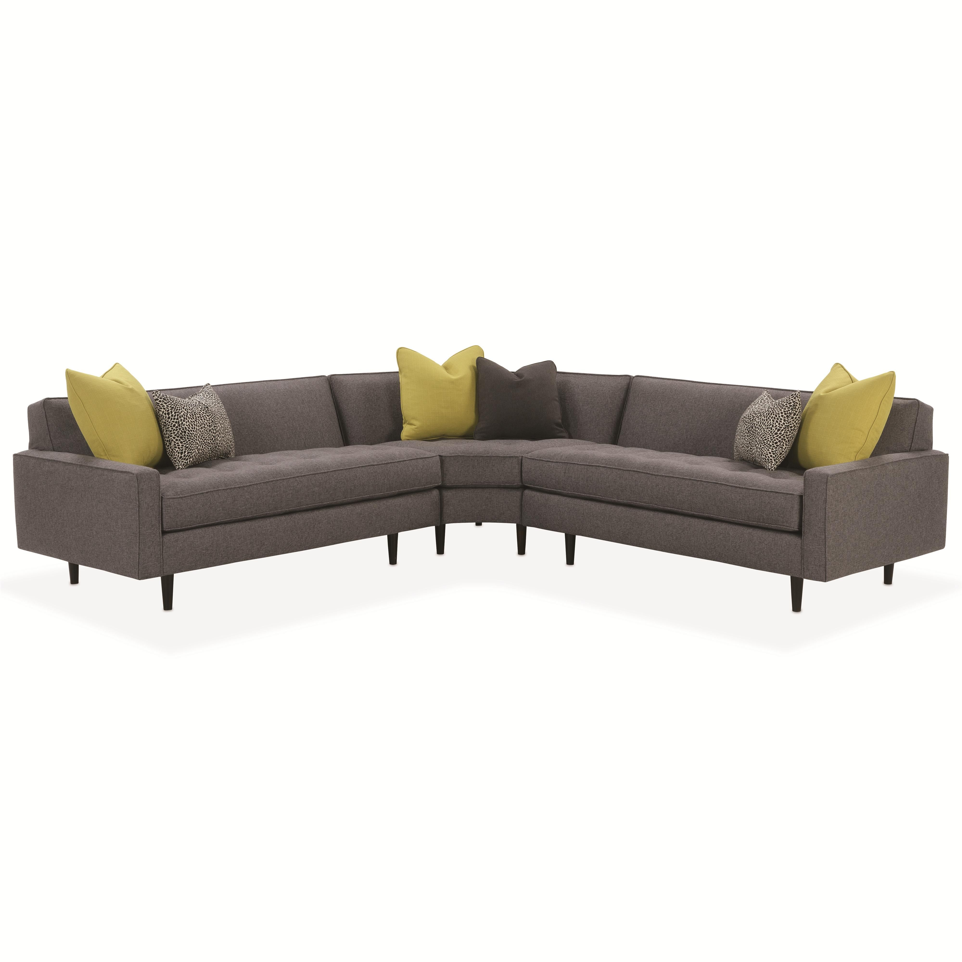 Sofa Sectionals With Bed Rowe Brady Contemporary Sectional Sofa With Track Arms Becker