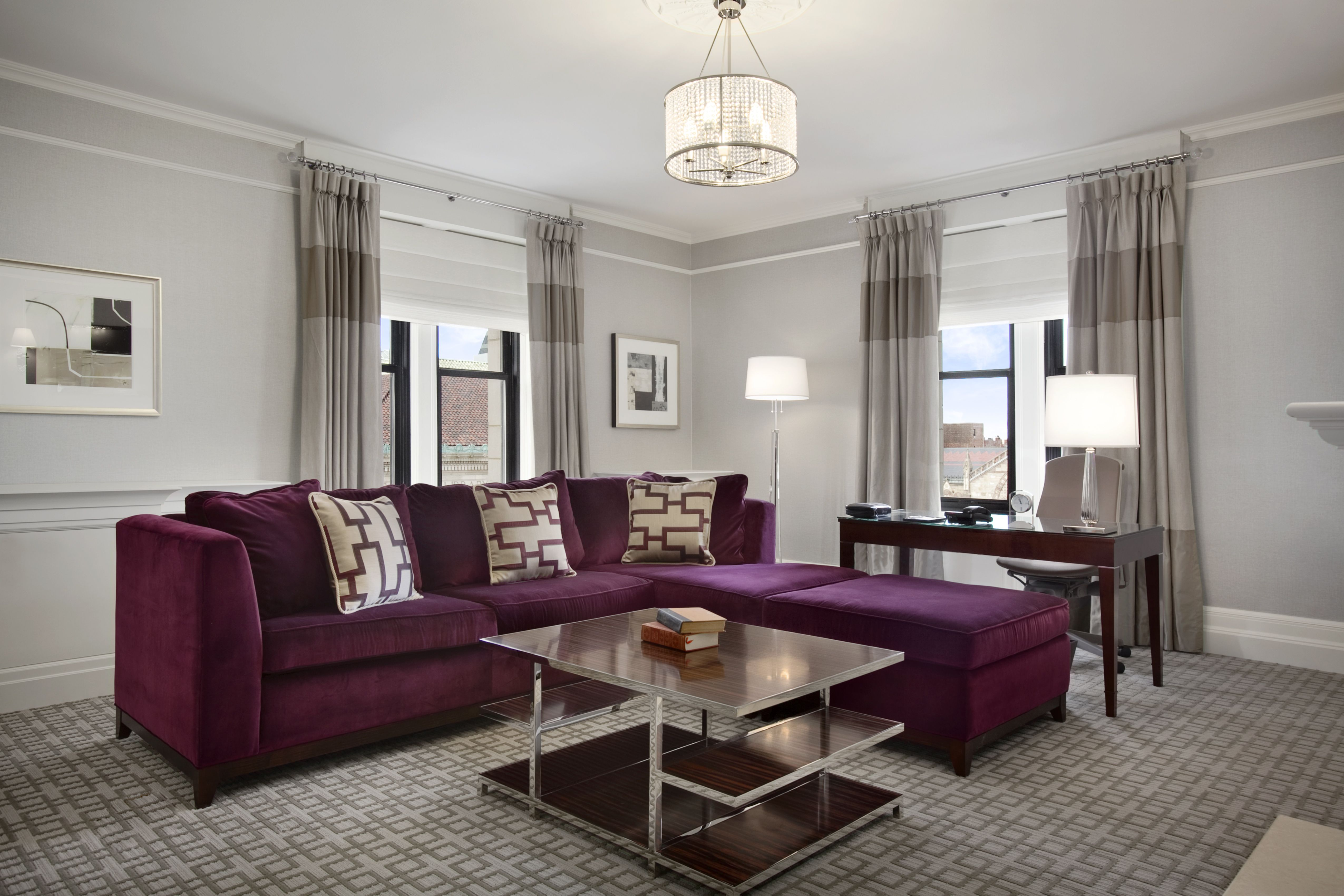 Renovated One Bedroom Suite Living Room at The Fairmont