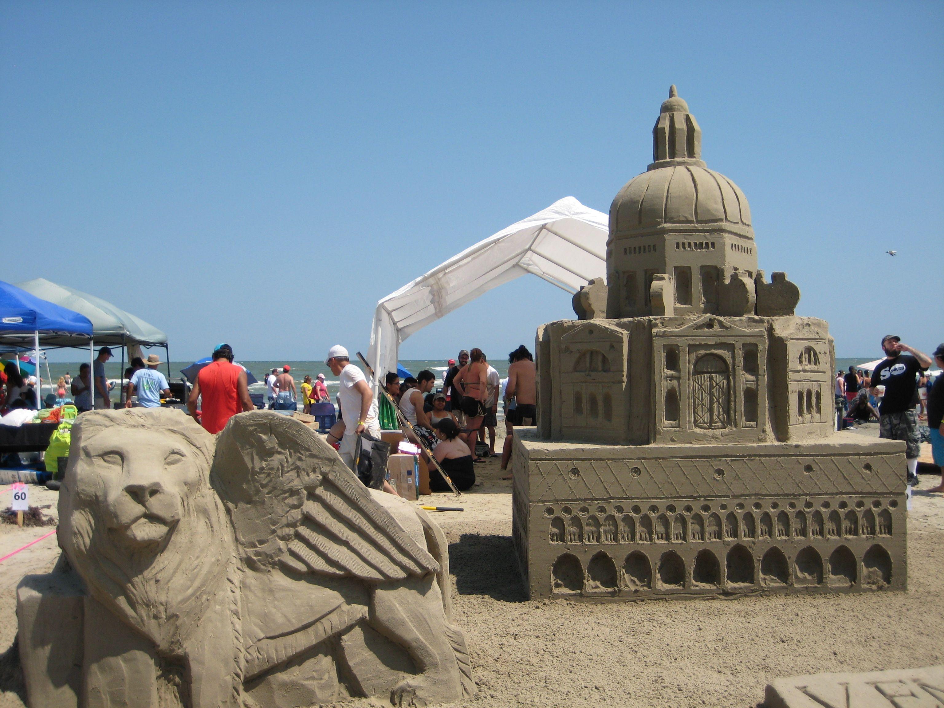 Galveston Aia Sandcastle Competition Sand Castle Galveston Sand Sculptures