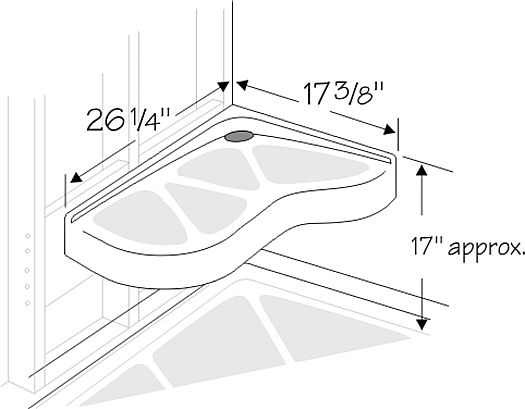 Extended Corner Shower Seat Diagram bathroom Pinterest Products Showers and  Corner showers  Extended Corner Shower. Allintitle lowes Bathroom Cabinets And Vanities
