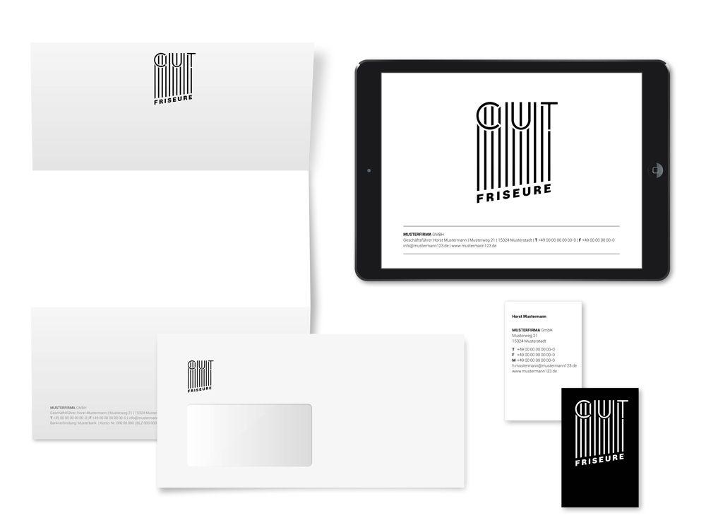 Exklusives Logo- und Corporate-Design für einen Friseur