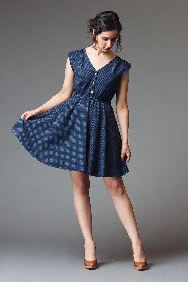 7240bd67164 Réglisse dress - make in linen Deer And Doe Patterns