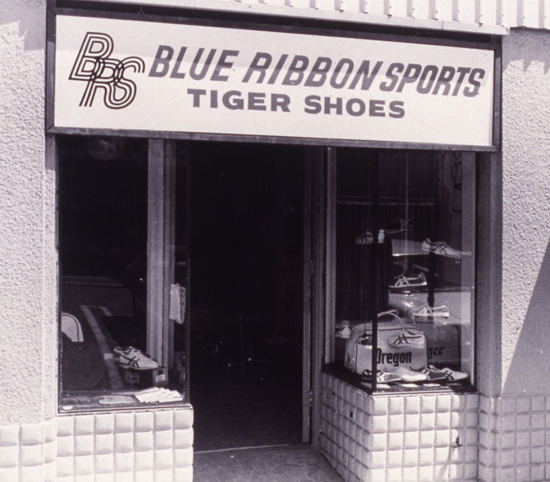 Nike, the first Blue Ribbon Sports (BRS) retail store