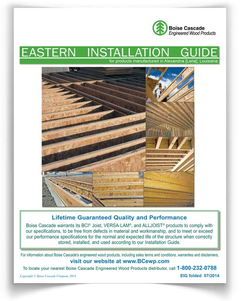 VERSA-LAM® LVL Span & Size Chart - Eastern Products - Boise Cascade