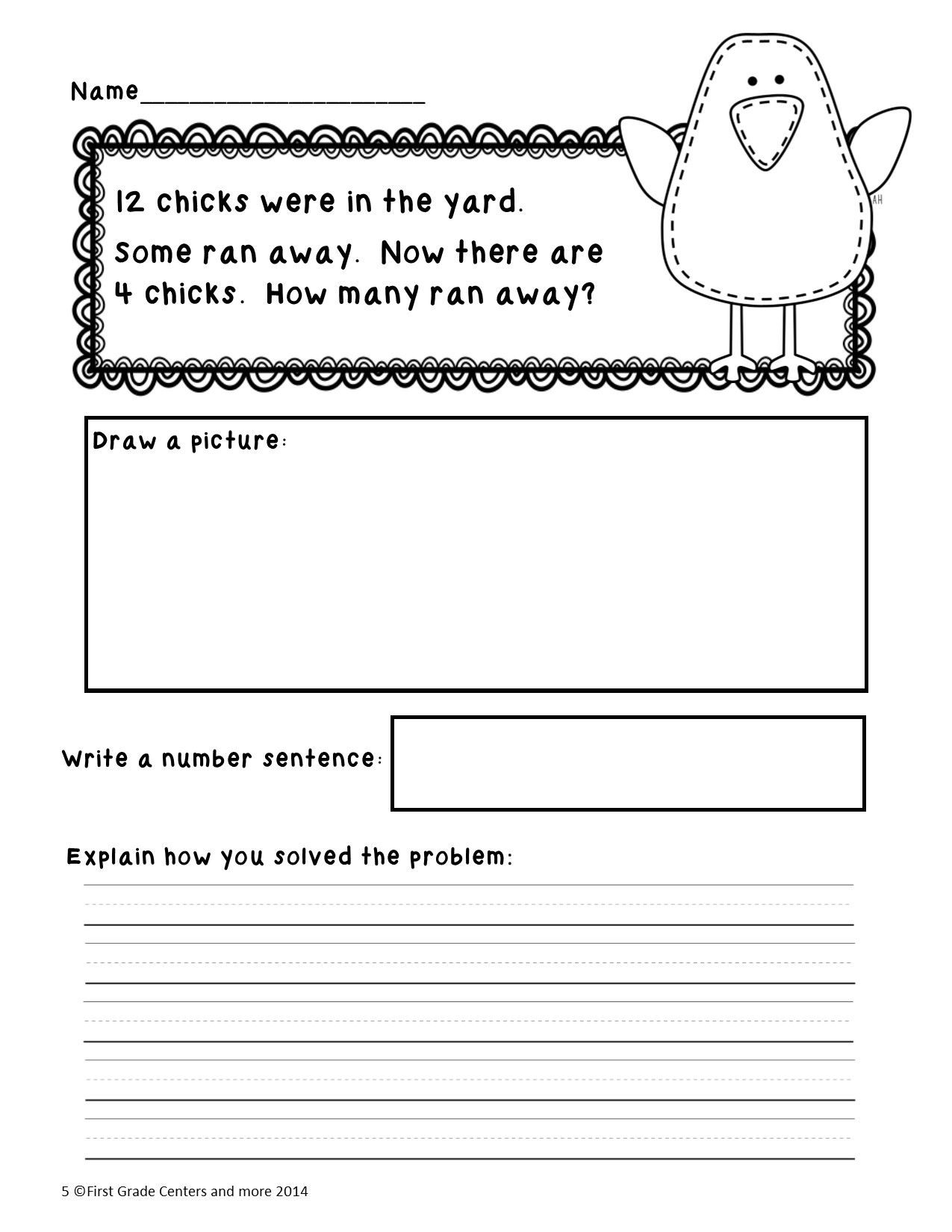 Easter Math Worksheet 1st Grade