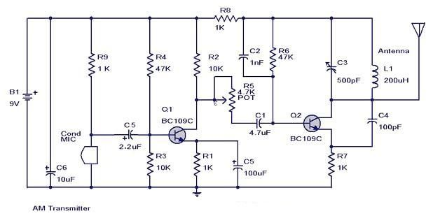 #AMTransmitterCircuit that can transmit your audios to