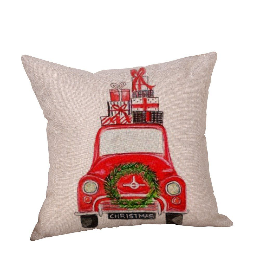 AmazonSmile: Birdfly Classic Cars in Christmas Throw Pillow Cases ...
